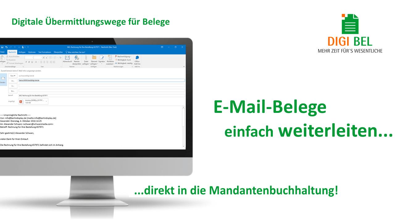 Digi Bel Email Belege weiterleiten